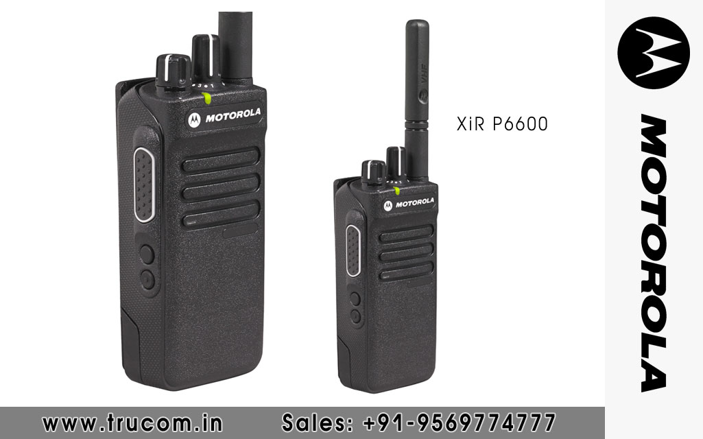 Motorola XIR P6600 Series Walkie Talkie dealers distributors suppliers in Shimla Baddi HP India