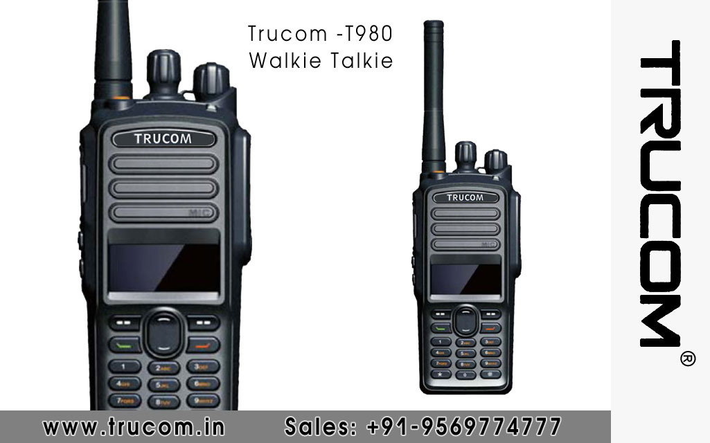 Trucom - T980 Walkie Talkie dealers distributors suppliers in Shimla Baddi HP India